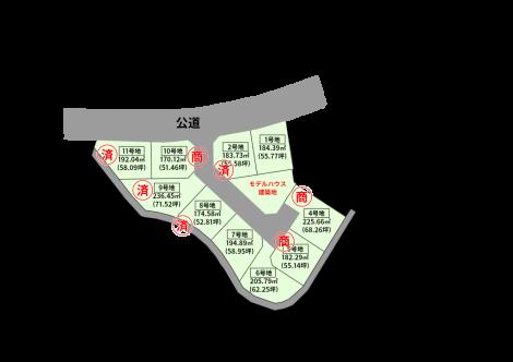 佐々造成地計画図